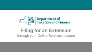 Filing a Personal Income Tax Extension with an Online Services Account