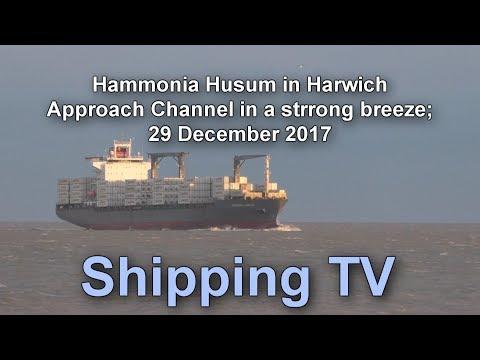 Hammonia Husum In Harwich Approach Channel, 29 Dec 2017