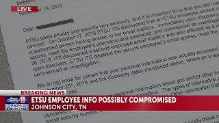 ETSU employees potentially affected by data breach connected to phishing scam