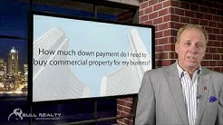How much down payment do I need to buy commercial property for my business?