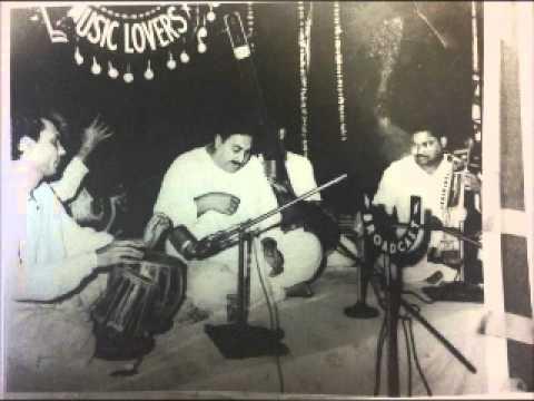 Ustad Sarahang- Raag Bagishiri - Last performance in India