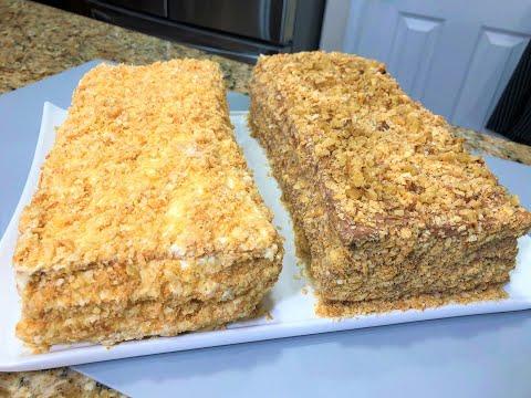 Торт НАПОЛЕОН  Два Новых Рецепта. Сожалею что не готовила их раньше. Бесподобные Праздничные ТОРТЫ!