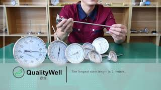 Industrial Bimetal Thermometer—Shanghai QualityWell