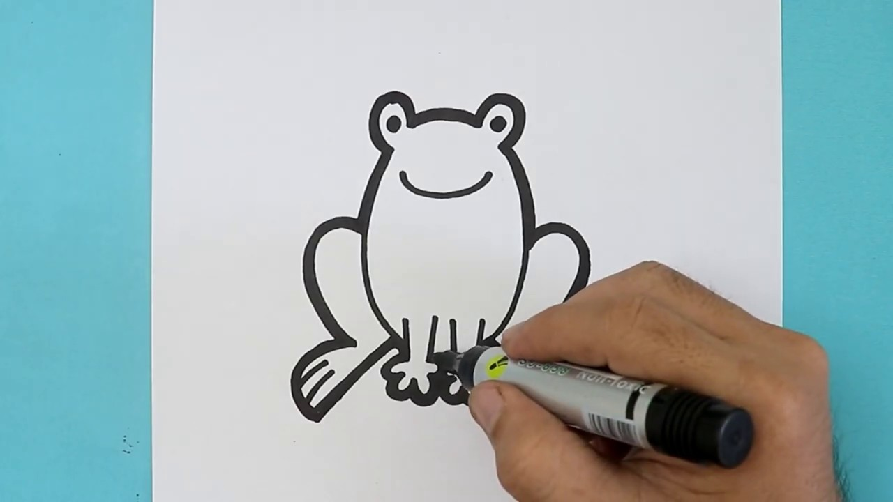 How to DRAW CUTE FROG Step by step - YouTube