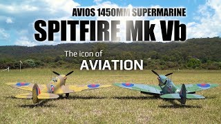 Avios Spitfire Mkvb Super Scale 1450mm Warbird - Hobbyking Product Video
