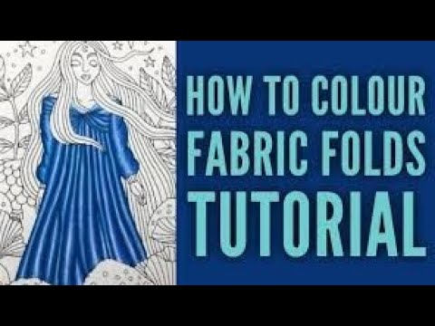 Material / Fabric Folds Colouring Tutorial