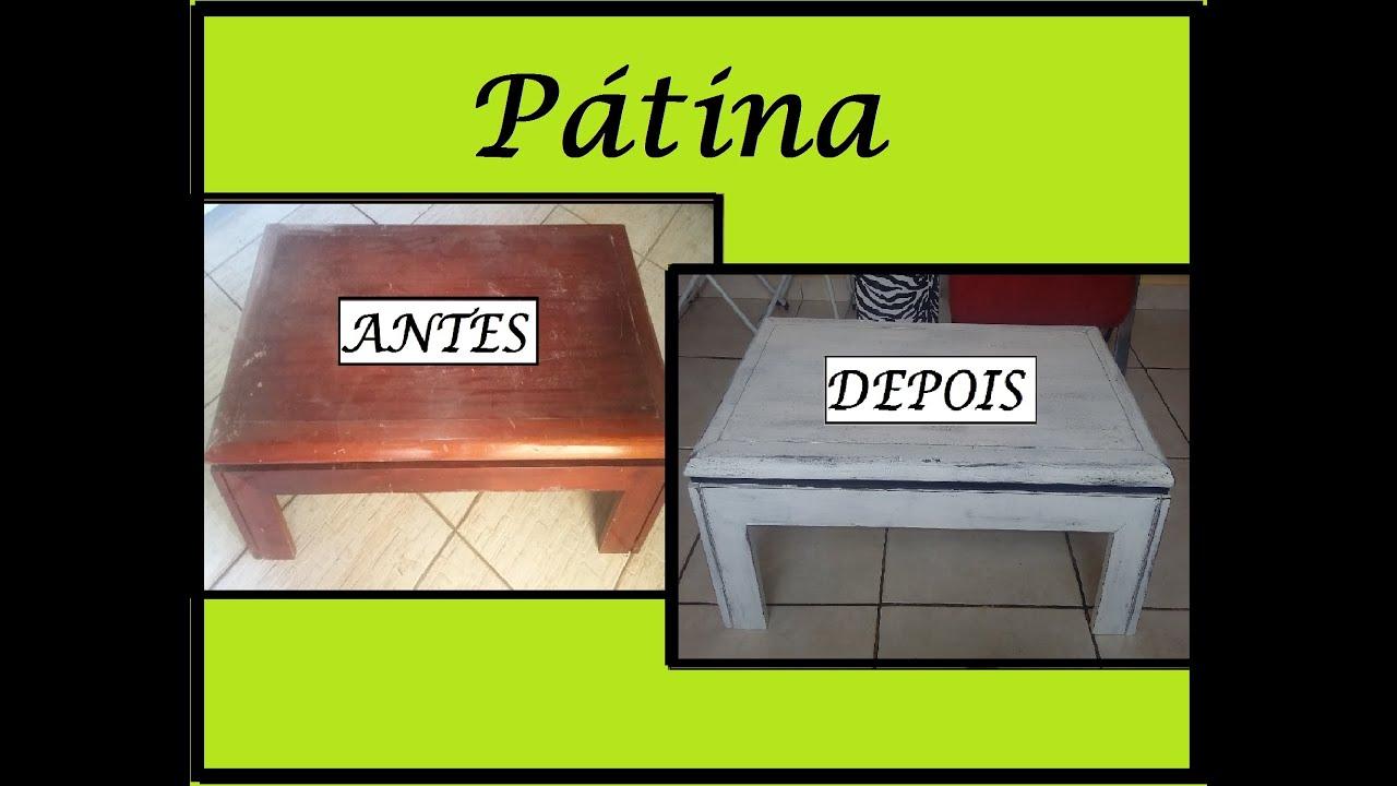Como fazer Pátina em Móveis Mesa de Centro   #90B615 1784x1376