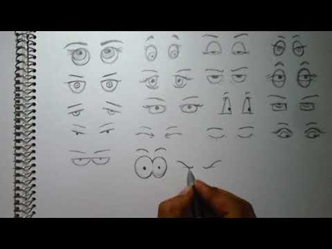How to draw eyes nose mouth and ears