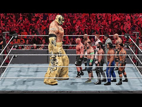 WWE 2K19 Giant Rey Mysterio vs Mini WWE Superstars Match!