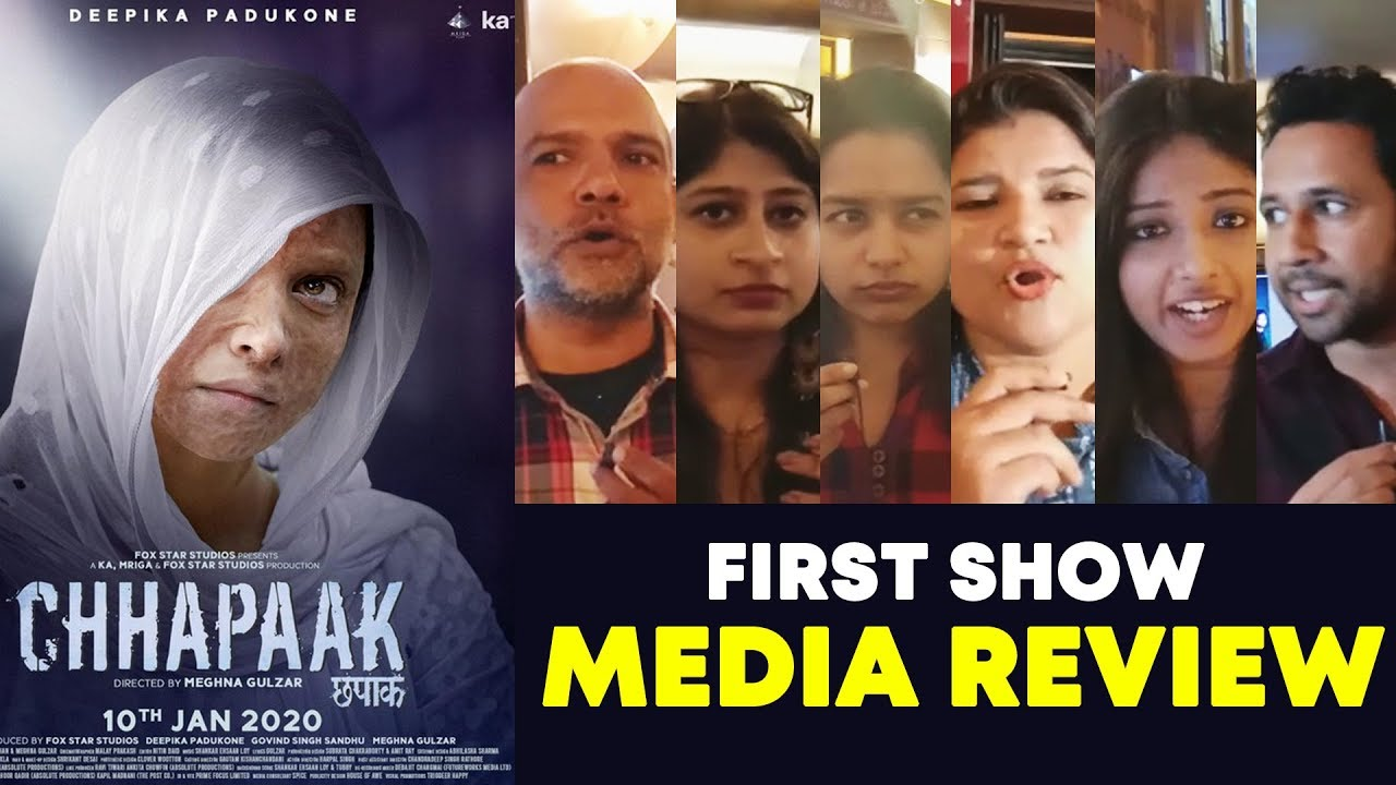 Chhapaak Media Review | First Show | Deepika Padukone, Vikrant Massey