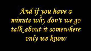 Glee - Somewhere Only We Know (Lyrics)