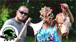 Cold Steel Viking Axe Pig Head and Alien Annihilation! AlienGoBoom