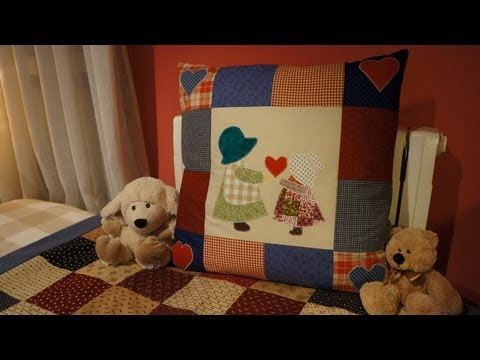 How to make a patchwork cushion with applique.