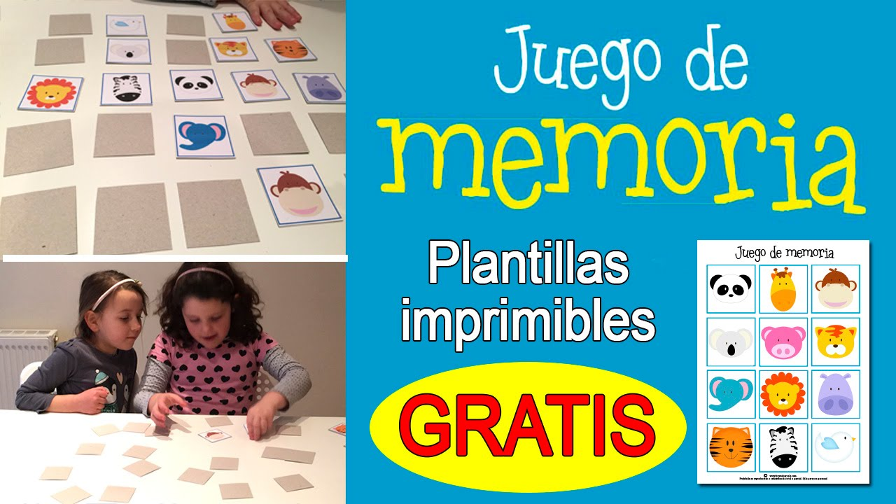 Juego De Memoria Para Niños Memory Game Youtube