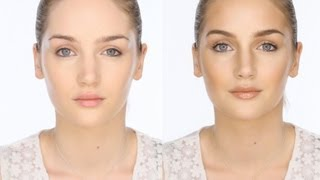 Bronzed Contoured & Highlighted Makeup Look