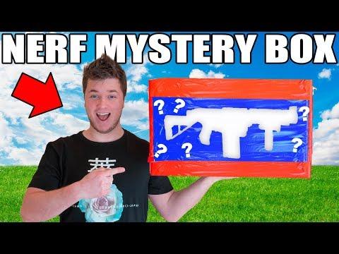NERF EBAY MYSTERY BOX CHALLENGE!!  $10,000 GOLDEN GUN?!?!