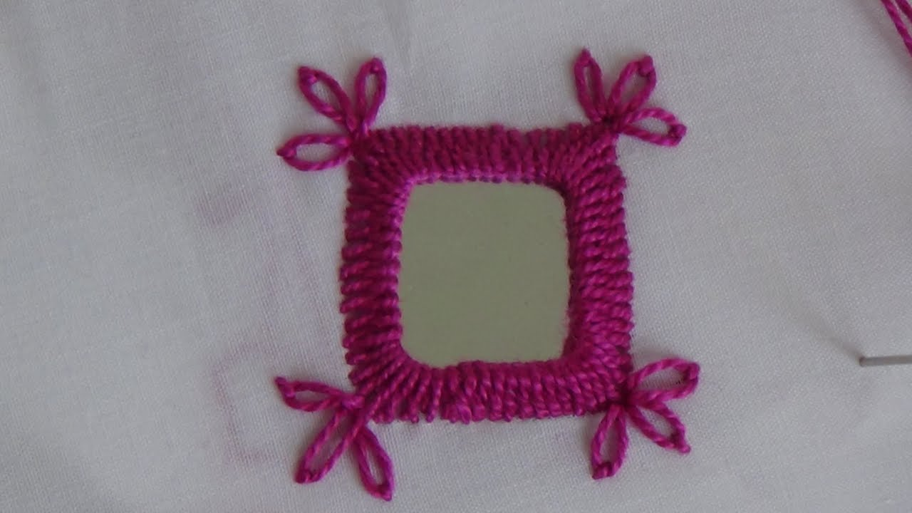 Hand embroider mirror work variation youtube