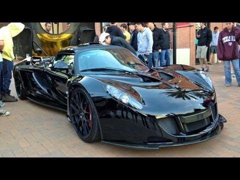 Venom GT & Lexus LFA REVVING – Coffee & Cars Houston