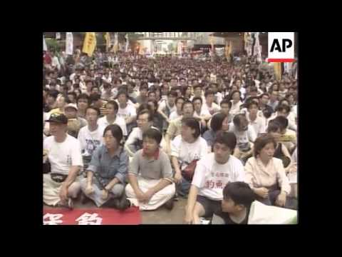 Hong Kong - Diaoyu-Senkaku islands dispute / rally