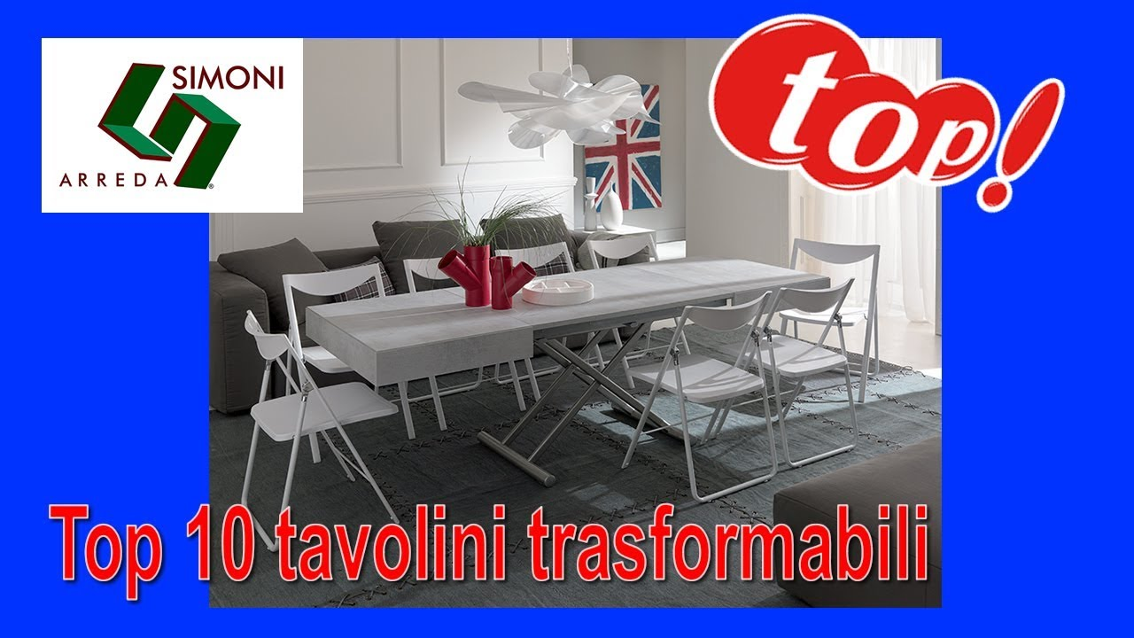 Tavolini alzabili tavolini trasformabili in tavolo youtube for Simoni arreda milano