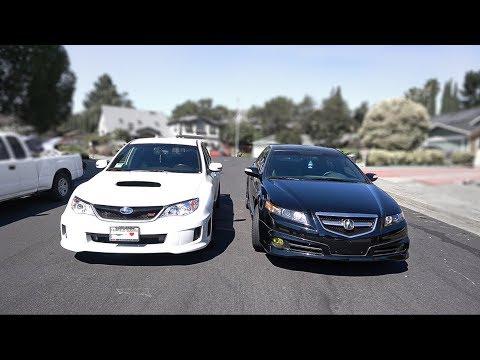 08 Acura TL S Vs 2013 WRX We Finally Race!