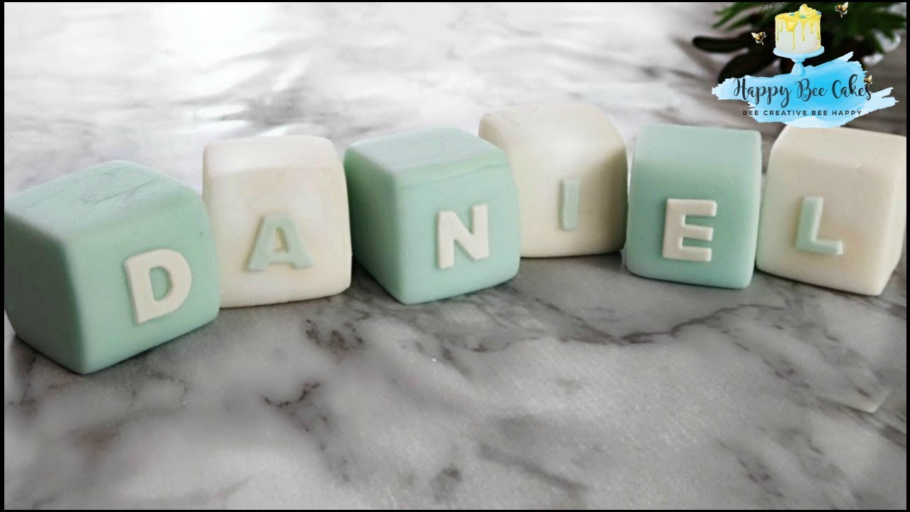 Fondant Baby Name Letter Blocks Tutorial 👶 Christening
