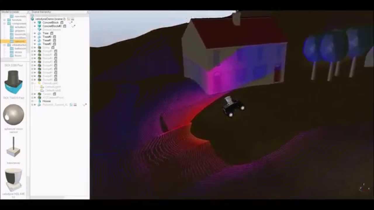 Robotics Simulation: Velodyne Lidar in V-REP – Advanced Imaging