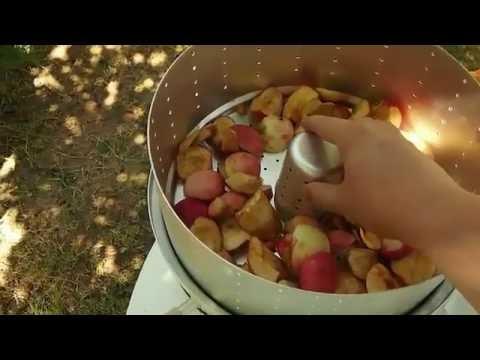 Как резать яблоки в соковарку
