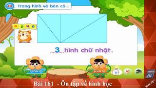 Bai 161, On tap ve hình hoc,Toán lớp 2, Toan 2, hoc toan, học toán, toán học, toan hoc