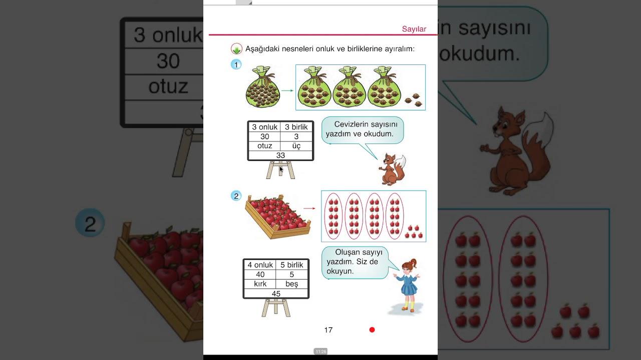 2 Sinif Matematik Ders Kitabi 1 Unite Cozumleri Youtube