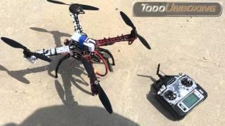 Construir un drone DJI F450 quadcopter con APM 2.6 Calibración ESC y Vuelo Parte 4