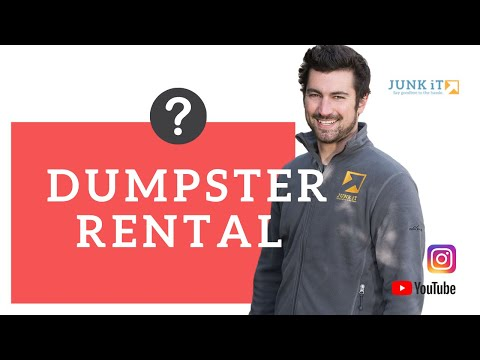 Junk It: How We Deliver Your Self Service Dumpster Rental