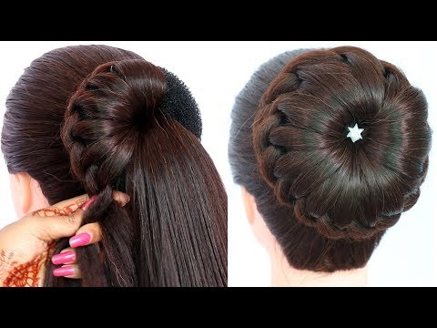 trending easy juda hairstyle || bun hairstyle || hairstyle for thin hair || hairstyle for girls thumbnail