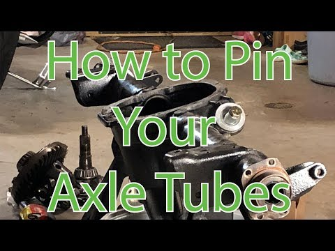 How to Pin 8.8 Axle Tubes