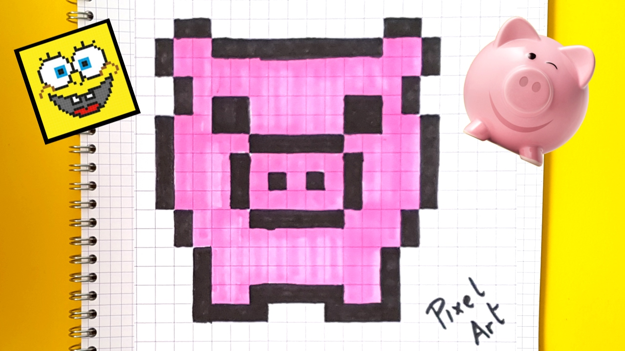 Pixel Art Hecho A Mano C 243 Mo Dibujar Un Cerdo Paso A Paso