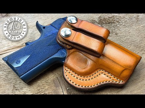 Making An IWB (Inside The Waistband) Leather Holster, 1911 3 Inch
