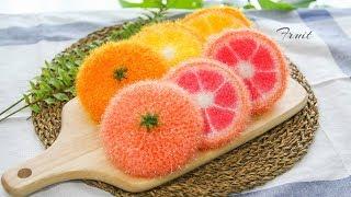 코바늘 수세미뜨기 과일…