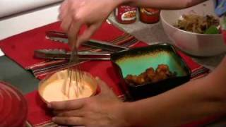 Safia's Bangin Shrimp Eggrolls With Spicy Dipping Sauce.wmv