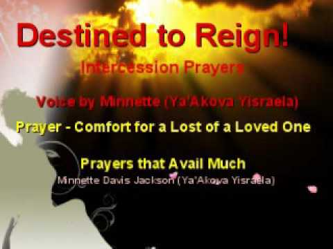 prayer for the lost of a loved one youtube