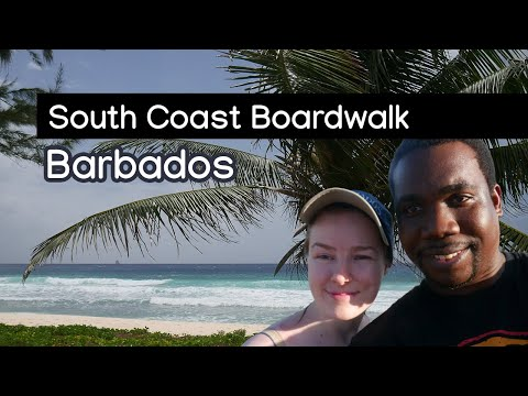 Barbados' South Coast's Boardwalk | Walking In Barbados | Wine & Rum