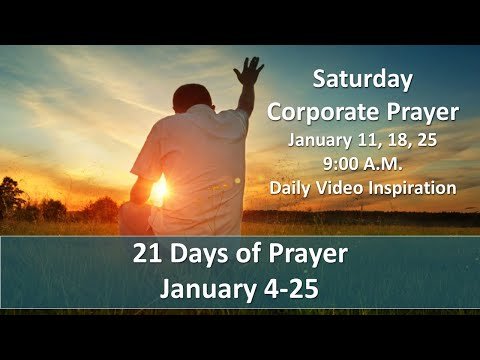 Day 9 of 21 days of prayer
