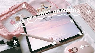 " ipad pro 11"" (2020) + apple pencil + aliexpress accessories 📦 unboxing"
