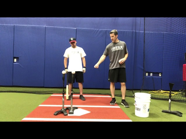 Double Batting Tee- Full Swing Extension Drill
