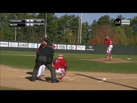 Concordia Stingers Vs McGill Redmen CCBA 2017 National Baseball Championships