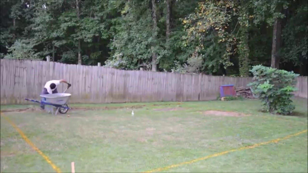 back yard leveling youtube
