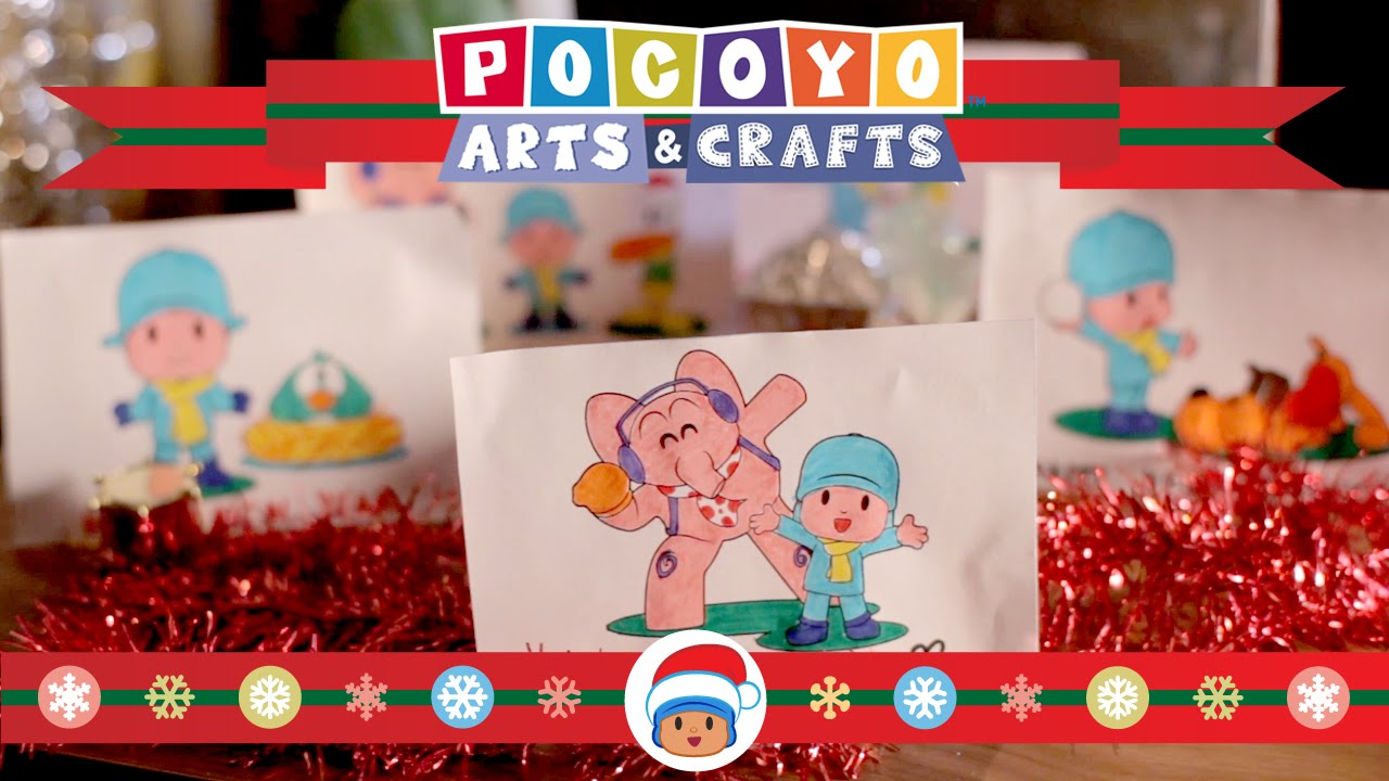 Pocoyo Arts & Crafts: Christmas cards and ornaments [EP 8 ...