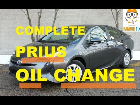 How To Change Toyota Prius Motor Oil 2016 2017 2018 Step By Directions