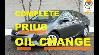 ▶️How to Change Toyota Prius Motor Oil, 2016 2017 2018 Step-by-Step Directions