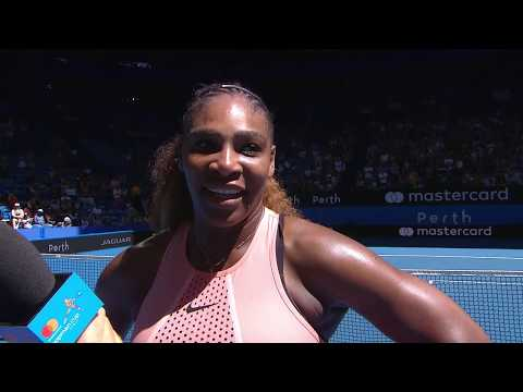 Serena Williams on-court interview (RR)   Mastercard Hopman Cup 2019