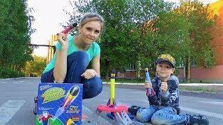 Обычный выходной день. Играем в игрушки - пускаем ракету! Развлечения для детей.